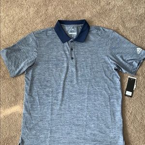 NWT Adidas Performance Heather Golf Polo